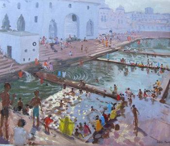 Konsttryck  Pushkar ghats, Rajasthan