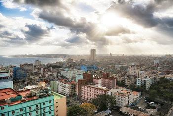 Exklusiva konstfoton Rays of light on Havana