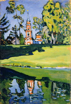 Konsttryck  Red Church, 1900