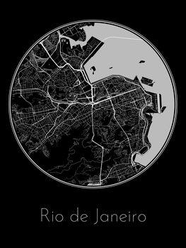 Karta över Rio de Janeiro