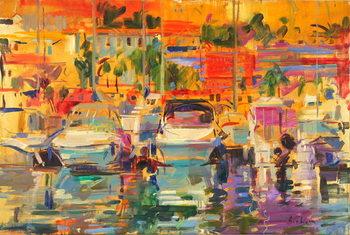 Konsttryck Riviera Harbour Sun