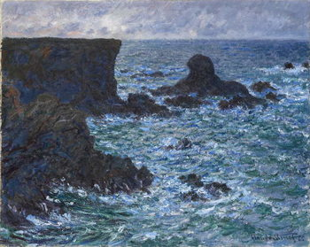 Konsttryck  Rocks at Port Coton, the Lion Rock, 1886