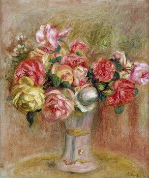 Konsttryck Roses in a Sevres vase