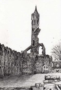 Konsttryck Ruin at St.Andrews, 2006,