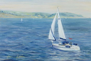 Konsttryck Sailing Home, 1999
