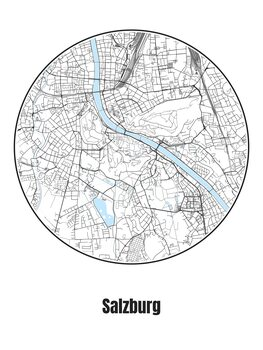 Karta över Salzburg