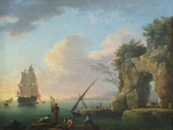 Konsttryck Seascape, 1748