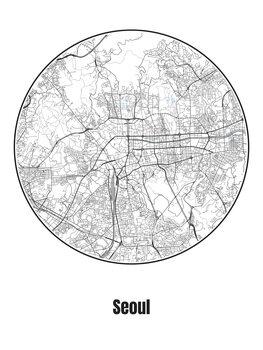 Karta över Seoul