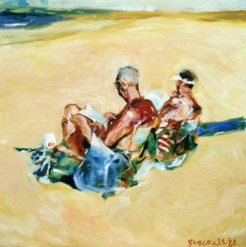Konsttryck  Sidney Beach Bums, 1984