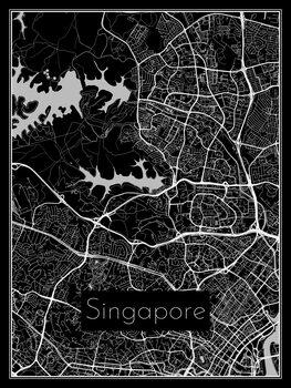 Karta över Singapore