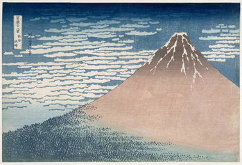 Konsttryck South Wind, Clear Dawn, from the series '36 Views of Mount Fuji', c.1830-1831
