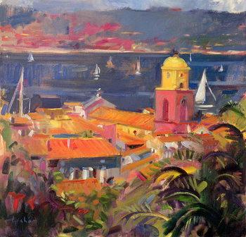 Konsttryck St Tropez Sailing, 2002