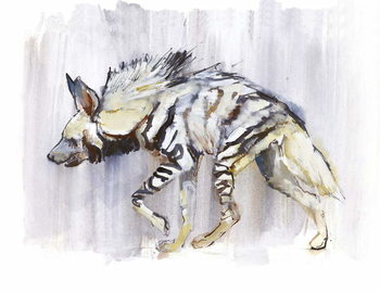 Konsttryck Striped Hyaena, 2010,