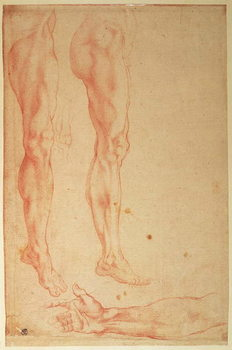 Konsttryck Studies of Legs and Arms