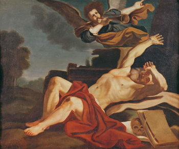 Konsttryck  The Awakening of Saint Jerome, a copy after the work by Giovanni Francesco Barbieri (1591-1666), 1841