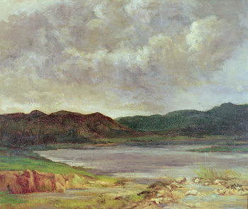 Konsttryck  The Black Lake, 1872