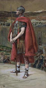 Konsttryck The Centurion, illustration for 'The Life of Christ', c.1886-94
