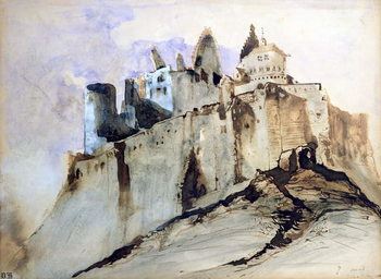 Konsttryck The Chateau of Vianden, 1871