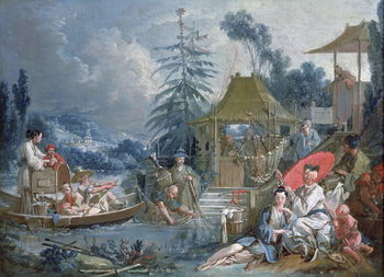 Konsttryck  The Chinese Fishermen, c.1742