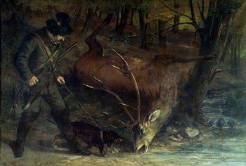 Konsttryck  The Death of the Stag, 1859