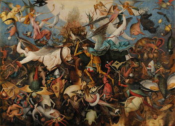 Konsttryck  The Fall of the Rebel Angels, 1562