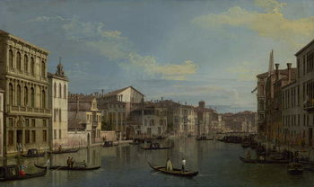 Konsttryck  The Grand Canal in Venice from Palazzo Flangini to Campo San Marcuola, c.1738