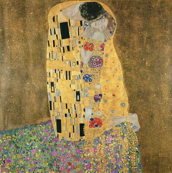 Konsttryck The Kiss, 1907-08