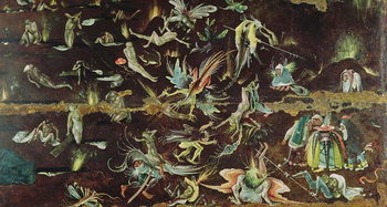 Konsttryck The Last Judgement, c.1504 (oil on panel)