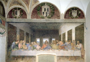 Konsttryck The Last Supper, 1495-97 (fresco)