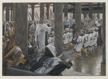 Konsttryck  The Procession in the Temple, illustration from 'The Life of Our Lord Jesus Christ', 1886-94