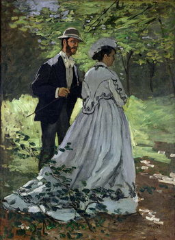 Konsttryck  The Promenaders, or Claude Monet Bazille and Camille, 1865