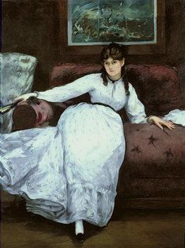 Konsttryck The Rest, portrait of Berthe Morisot (1841-95), 1870