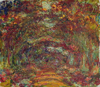 Konsttryck The Rose Path, Giverny, 1920-22