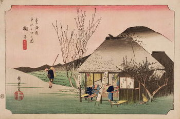 Konsttryck The Teahouse at Mariko, from the series '53 Stations on the Eastern Coast Road', 1833