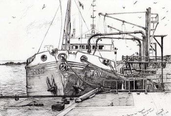 Konsttryck The Trinity port Ellen Isle of Islay, 2007,