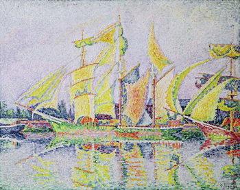 Konsttryck  Three Yellow Masts, 1931