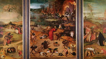 Konsttryck Triptych of the Temptation of St. Anthony