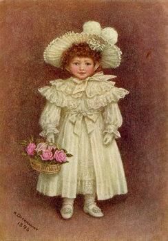 Konsttryck 'Vera Evelyn Samuel', 1896 by Kate Greenaway