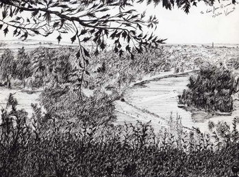 Konsttryck View from Richmond Hill London, 2004,