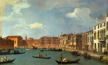Konsttryck  View of the Canal of Santa Chiara, Venice