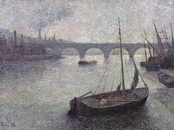 Konsttryck  View of the Thames, 1893