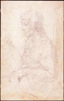 Konsttryck W.40 Sketch of a female figure