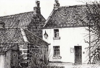 Konsttryck W.M.Barrie's birthplace, 2007,