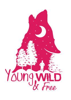 Exklusiva konstfoton Young, Wild & Free - Pink