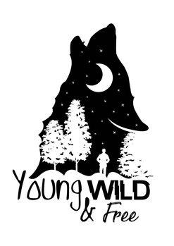 Exklusiva konstfoton Young, Wild & Free - White