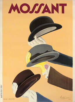 Advertising poster for Mossant hats, 1938 Festmény reprodukció
