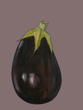 Aubergine, 2003 Festmény reprodukció