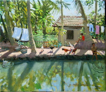 Backwaters, India Festmény reprodukció