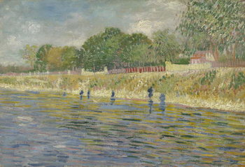 Bank of the Seine, 1887 Festmény reprodukció