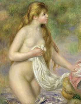 Bather with long hair, c.1895 Festmény reprodukció